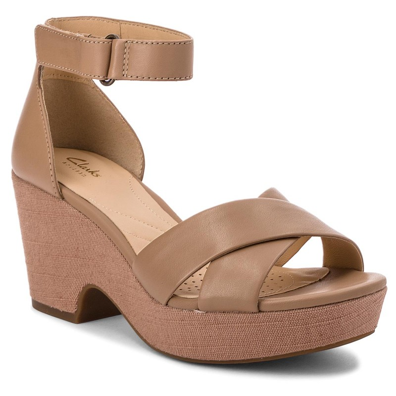 Sandalen CLARKS-Maritsa Ruth 261317724 Beige Leather