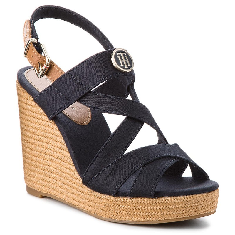 Espadrilles TOMMY HILFIGER-Iconic Elena Sandal Hardware FW0FW02793 Midnight 403