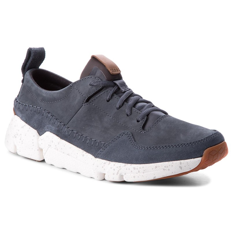 Halbschuhe CLARKS-Triactive Run 261322757 Blue Nubuck