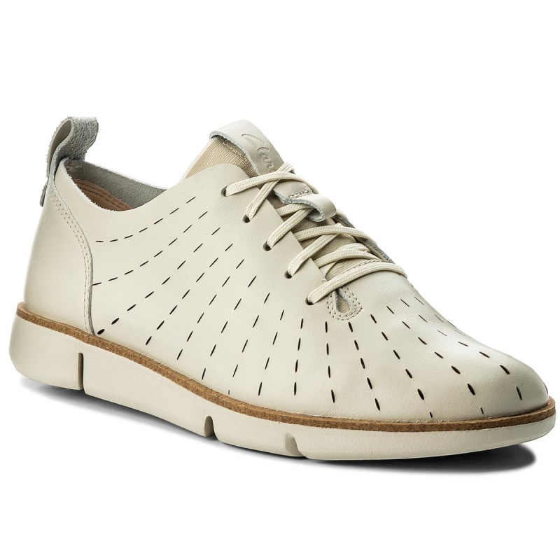 Halbschuhe CLARKS-Tri Etch 261325294 White Leather