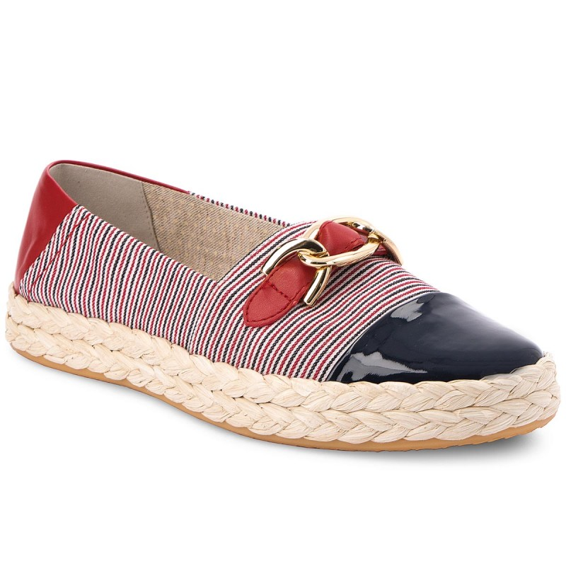 Espadrilles GEOX-D Modesty E D8229E 0AWHH C4181 Navy/White/Red