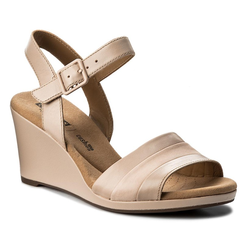 Sandalen CLARKS-Lafley Aletha 261339464 Dusty Pink Leather