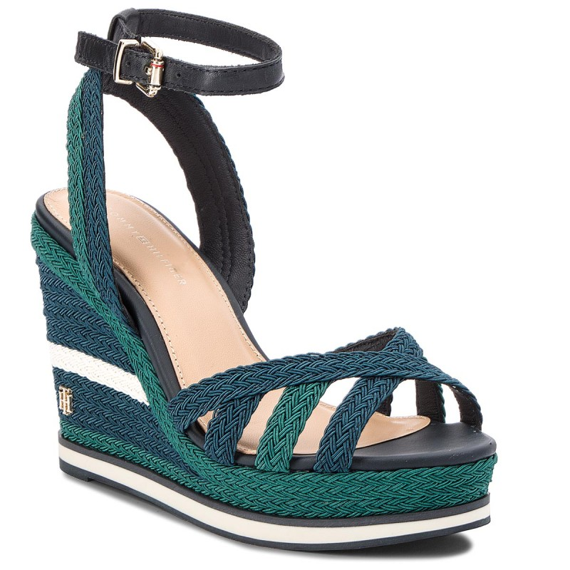 Sandalen TOMMY HILFIGER-Wedge Sandal Sporty Outsole FW0FW02251  Midnight 403