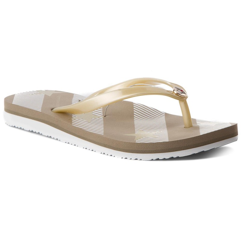 Zehentrenner TOMMY HILFIGER-Stars And Stripes Beach Sandal FW0FW02384 Cobblestone 068