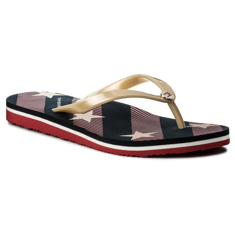 Zehentrenner TOMMY HILFIGER-Stars And Stripes Beach Sandal FW0FW02384 Midnight 403