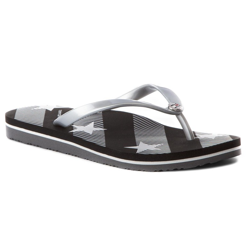 Zehentrenner TOMMY HILFIGER-Stars And Stripes Beach Sandal FW0FW02384 Black 990