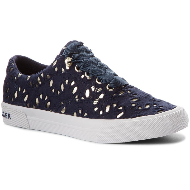 Turnschuhe TOMMY HILFIGER-Heritage Metallic Star Sneaker FW0FW02472 Tommy Navy 406