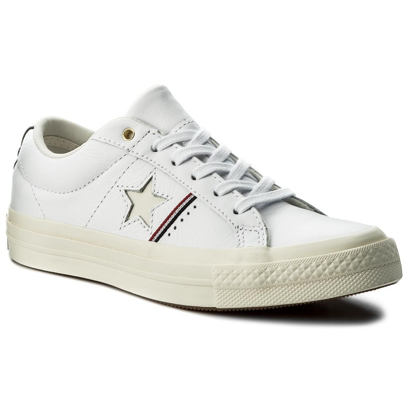 Turnschuhe CONVERSE-One Star Ox 159694 C White/Enamel Red/Egred