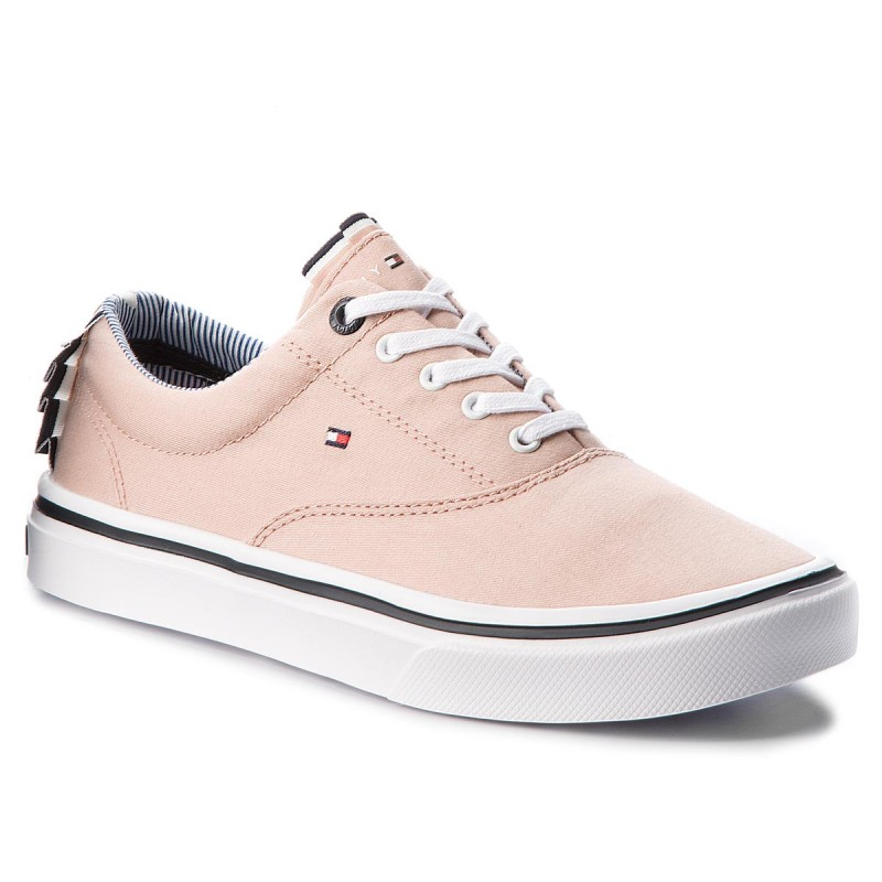 Turnschuhe TOMMY HILFIGER-Textile Light Weight Sneaker FW0FW02809 Dusty Rose 502