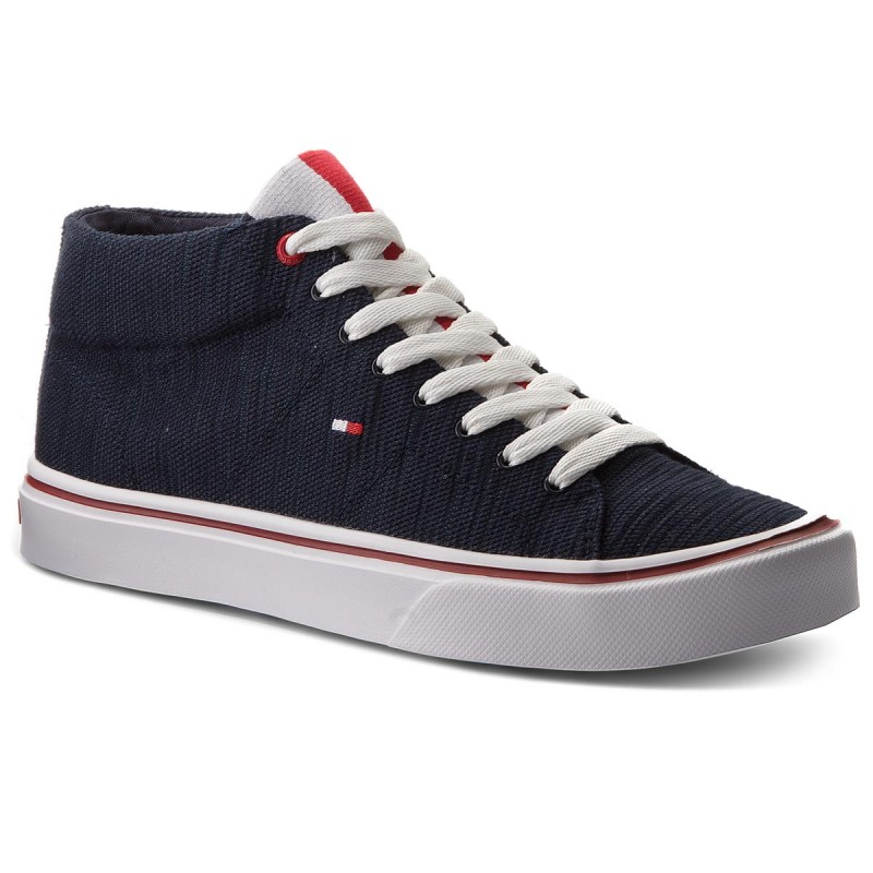 Sneakers TOMMY HILFIGER-Lightweight Knit Mid Cut Sneaker FM0FM01352  Midnight 403