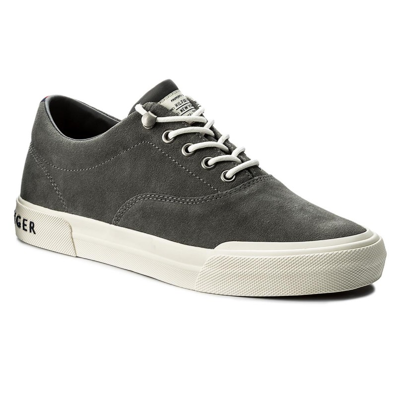 Turnschuhe TOMMY HILFIGER-Heritage Suede Sneaker FM0FM00592 Charcoal 007