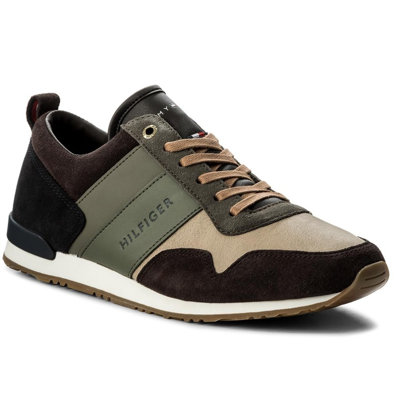 Sneakers TOMMY HILFIGER-Iconic Color Mix Runner FM0FM00614 Coffeebean/Dusty Olive 907