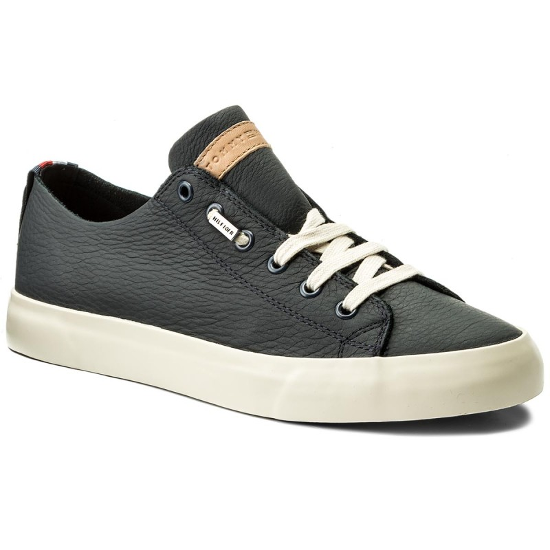 Sneakers TOMMY HILFIGER-Unlined Leather Low Cut Sneaker FM0FM01318 Midnight 403