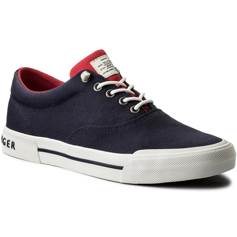 Turnschuhe TOMMY HILFIGER-Heritage Textile Sneaker FM0FM01353 Tommy Navy 406