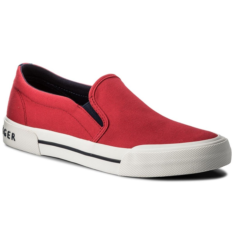 Turnschuhe TOMMY HILFIGER-Heritage Textile Slip On Sneaker FM0FM01359 Tango Red 611