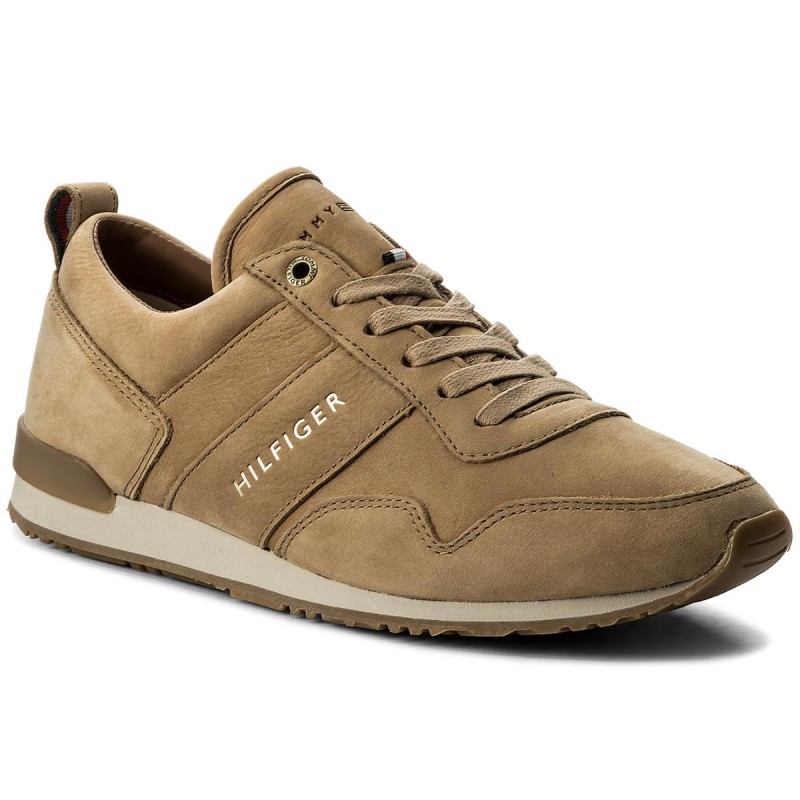 Sneakers TOMMY HILFIGER-Iconic Nubuck Leather Runner FM0FM01437 Sand 102