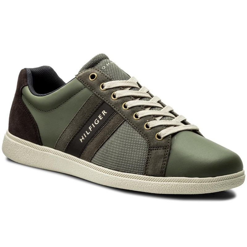 Sneakers TOMMY HILFIGER-Core Material  Mix Cupsole FM0FM01479 Dusty Olive 011