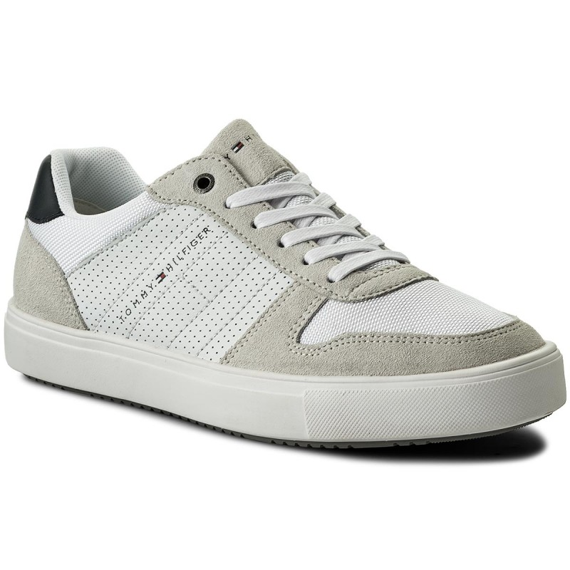 Sneakers TOMMY HILFIGER-Lightweight Material Mix Sneaker FM0FM01539 White 100