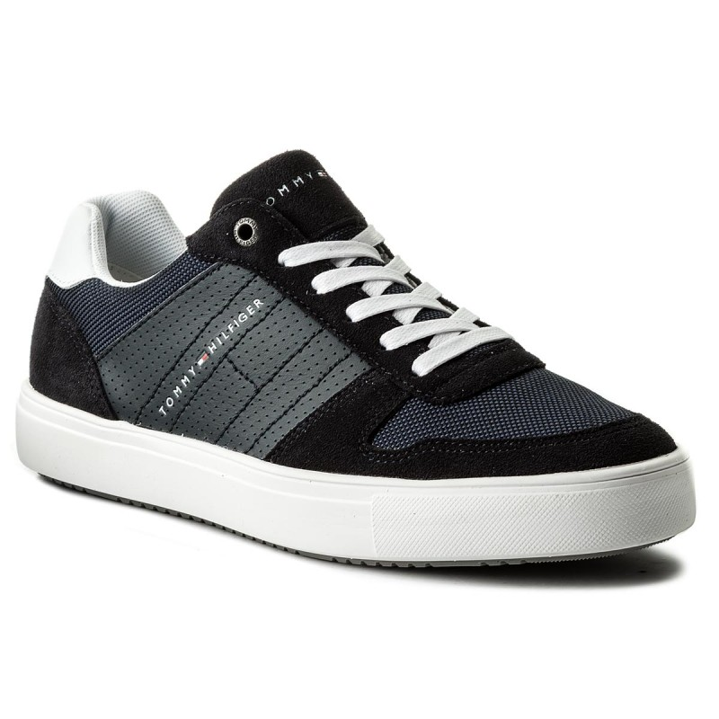 Sneakers TOMMY HILFIGER-Lightweight Material Mix Sneaker FM0FM01539  Midnight 403