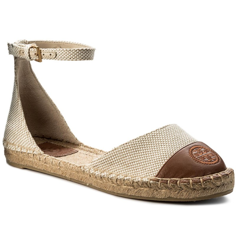 Espadrilles TORY BURCH-Color Block Ankle-Strap Espadrille 47027 Perfect Sand/Perfect Cuoio 241