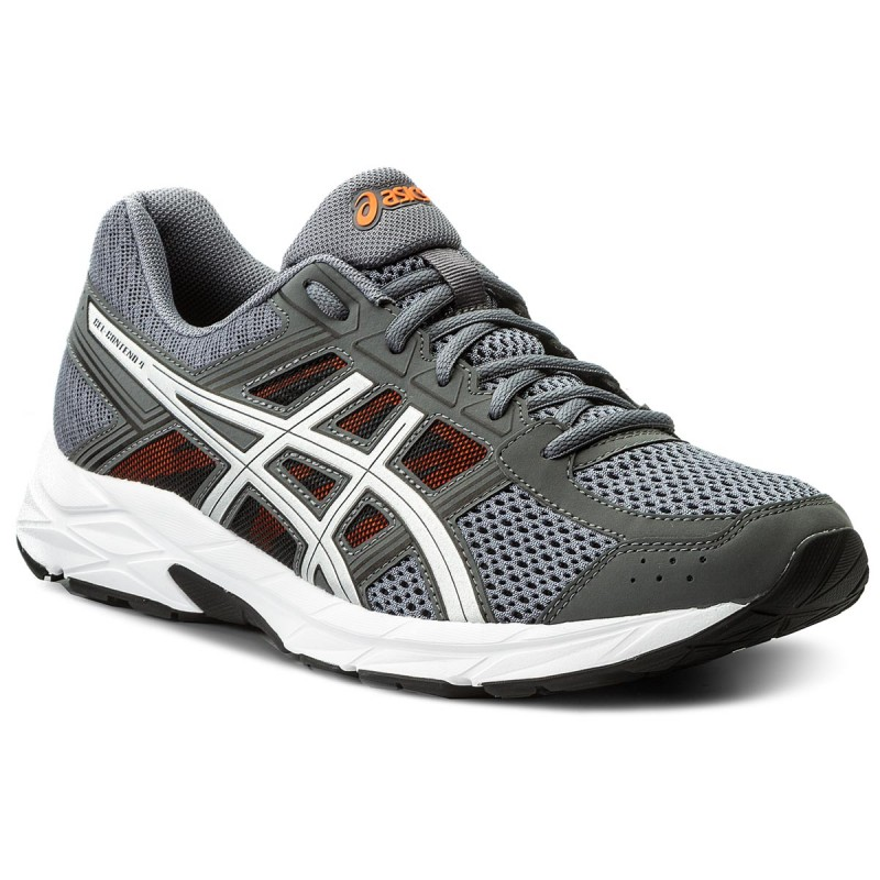 Schuhe ASICS-Gel-Contend 4 T715N  Carbon/Silver/Shocking Orange