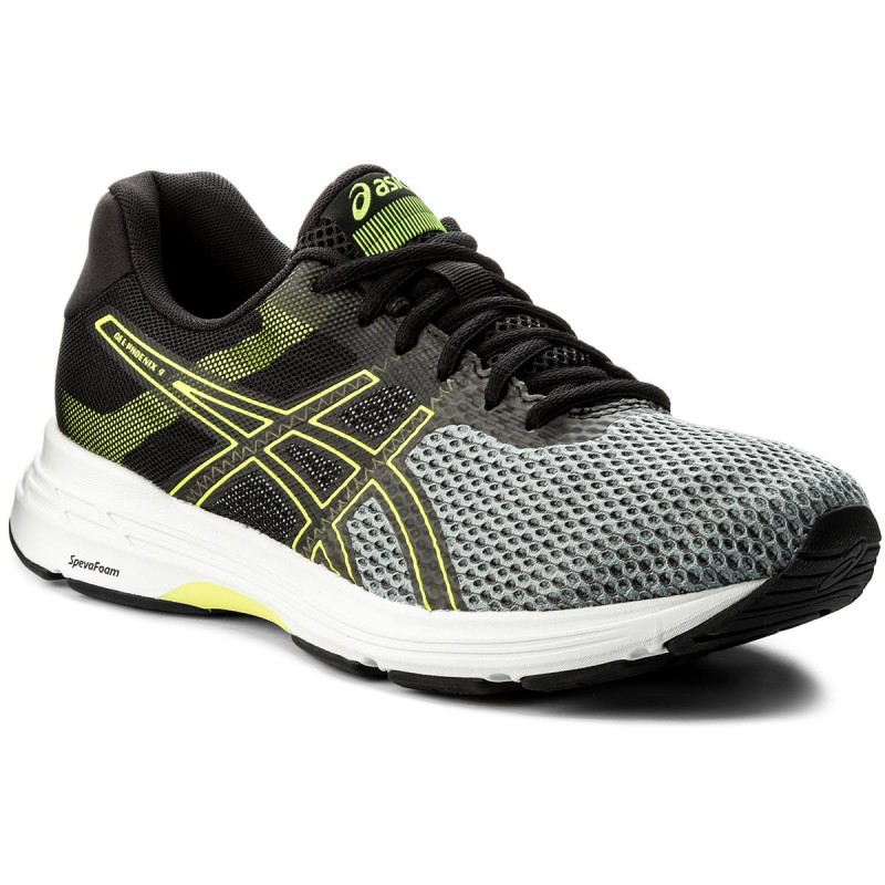 Schuhe ASICS-Gel-Phoenix 9 T822N Stone Grey/Black/Safety Yellow 1190