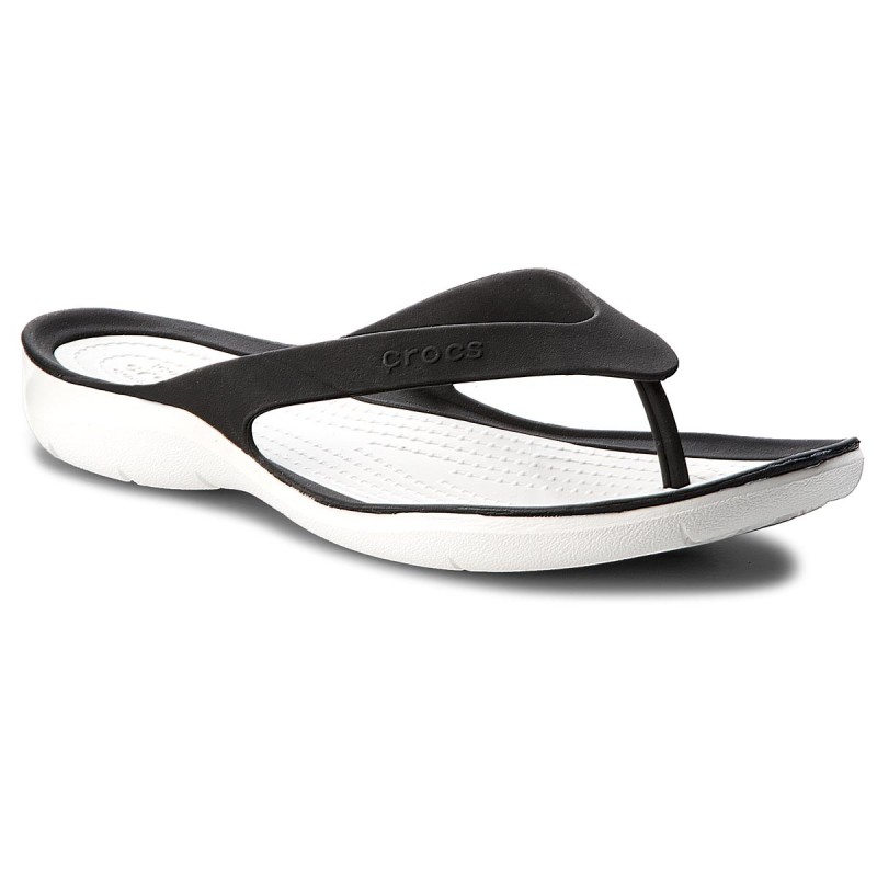 Zehentrenner CROCS-Swiftwater Flip W 204974 Black/White