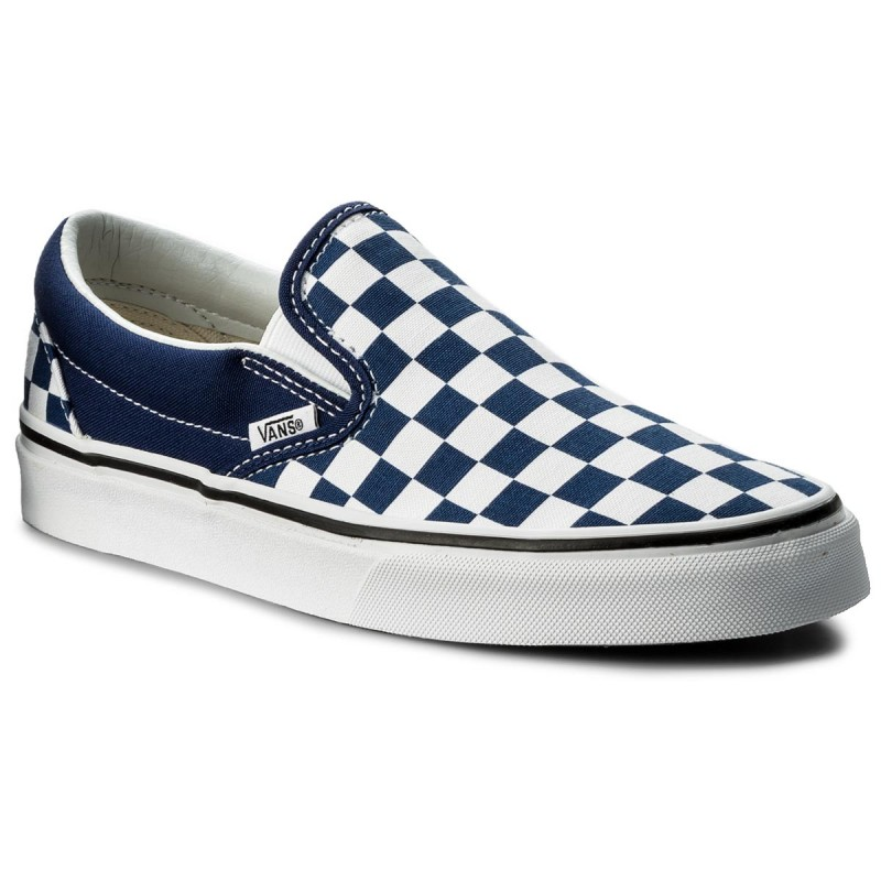 Turnschuhe VANS-Classic Slip-On VN0A38f7QCN (Checkerboard) Estate Blu