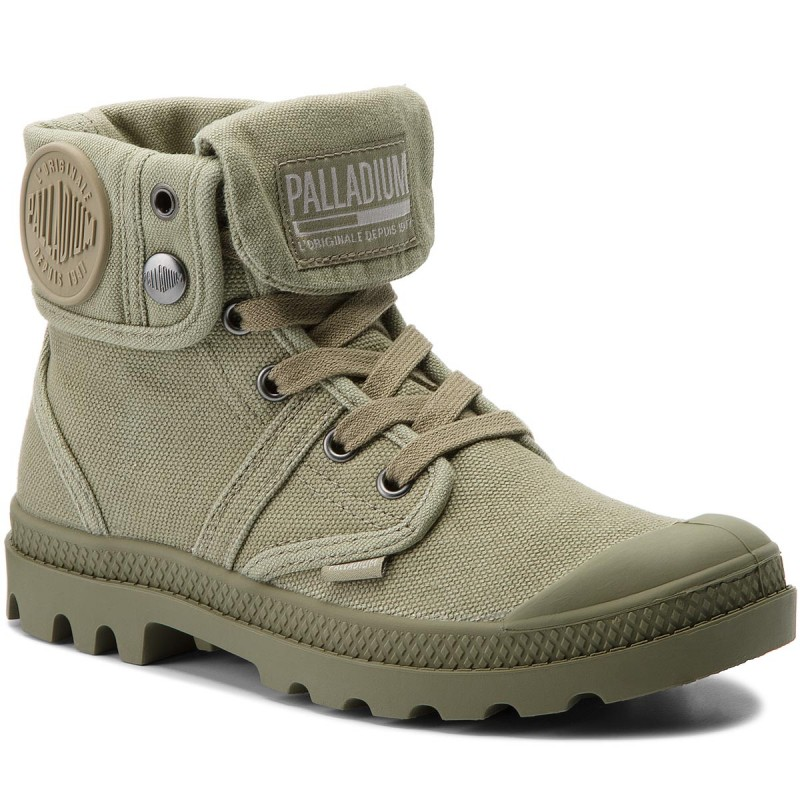 Trapperschuhe PALLADIUM-Pallabrouse Baggy 92478-342-M Vetiver/Burnt Olive
