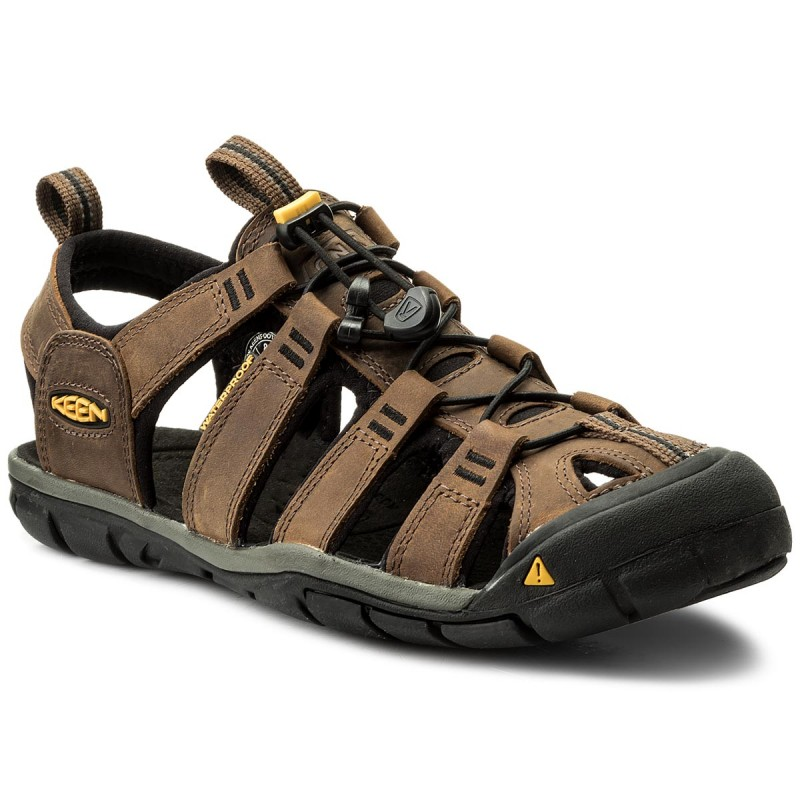 Sandalen KEEN-Clearwater Cnx Leather 1013106 Dark Earth/Black