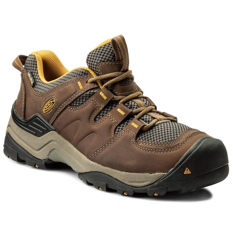 Trekkingschuhe KEEN-Gypsum II Wp 1016765 Shitake/Golden Yellow