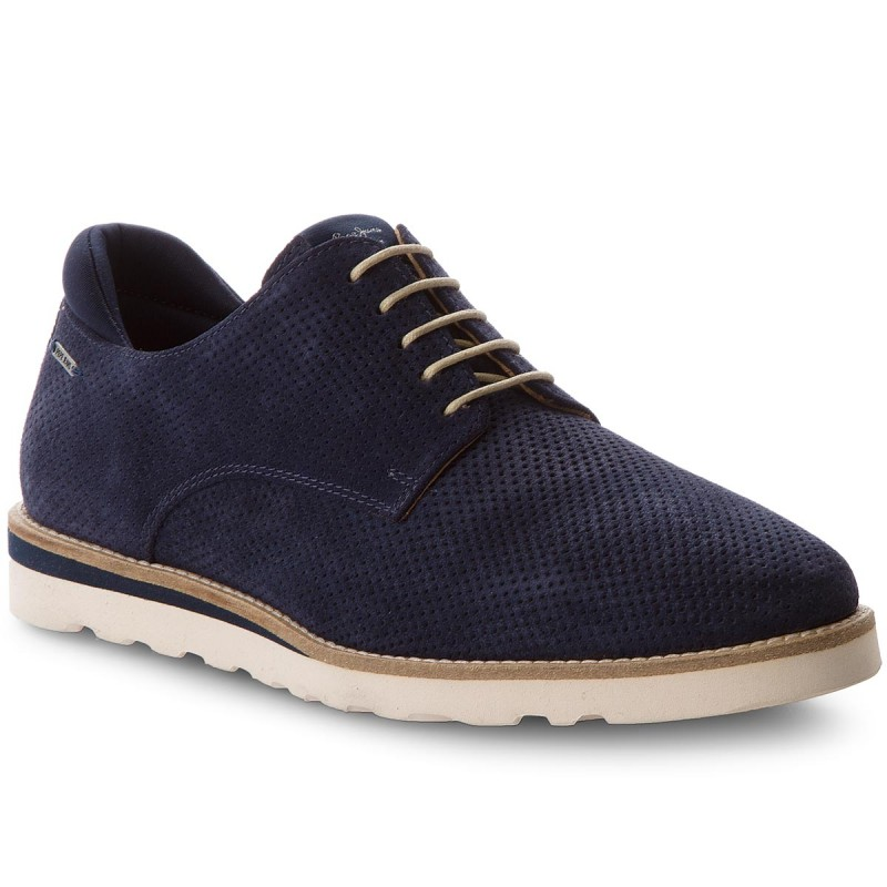Halbschuhe PEPE JEANS-Barley Perforation PMS10218 Navy 595