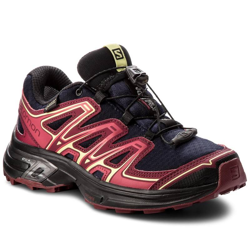 Schuhe SALOMON-Wings Flyte 2 Gtx GORE-TEX 399714 20 W0 Evening Blue/Beet Red/Sunny Lime