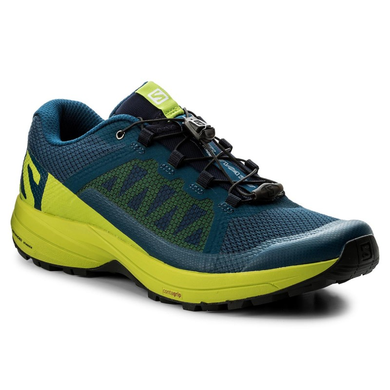 Schuhe SALOMON-Xa Elevate 400064 29 V0 Poseidon/Lime Green/Black