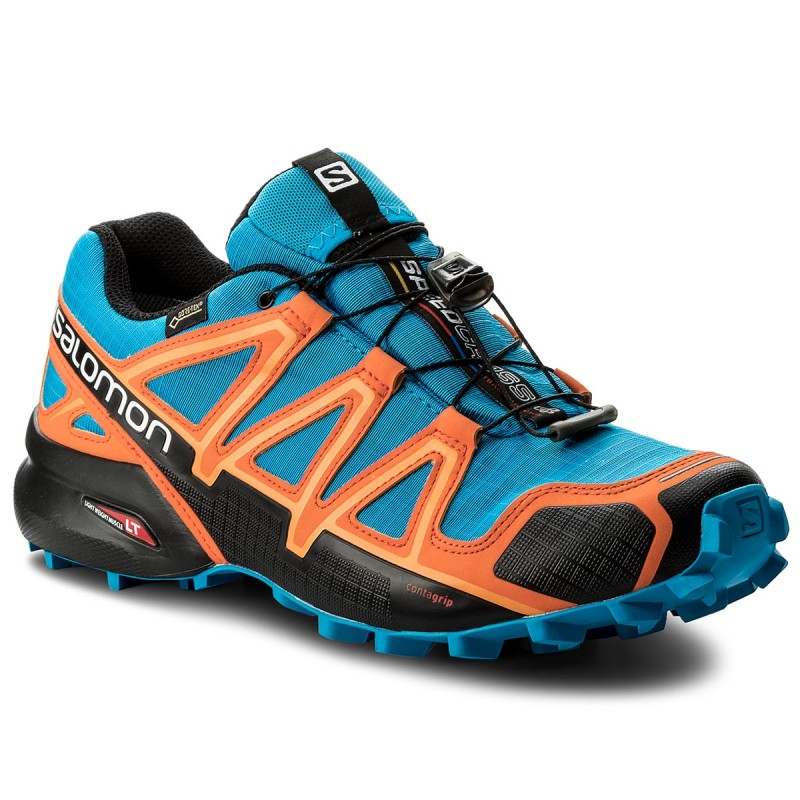 Schuhe SALOMON-Speedcross 4 Gtx GORE-TEX 401248 30 G0 Hawaiian Surf/Black/Skarlet Ibis