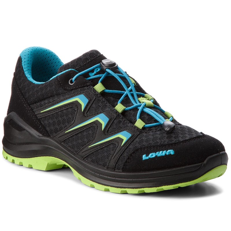 Trekkingschuhe LOWA-Maddox Lo Junior 650779 Black/Lime 9903