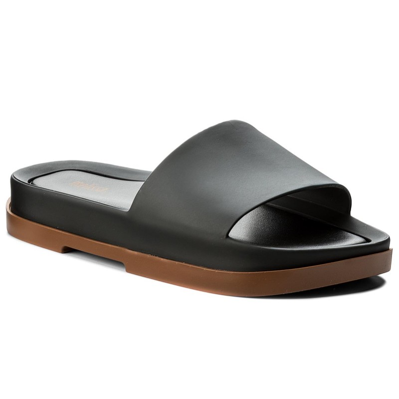 Pantoletten MELISSA-Beach Slide Platform A 32350 Brown/Black 51620