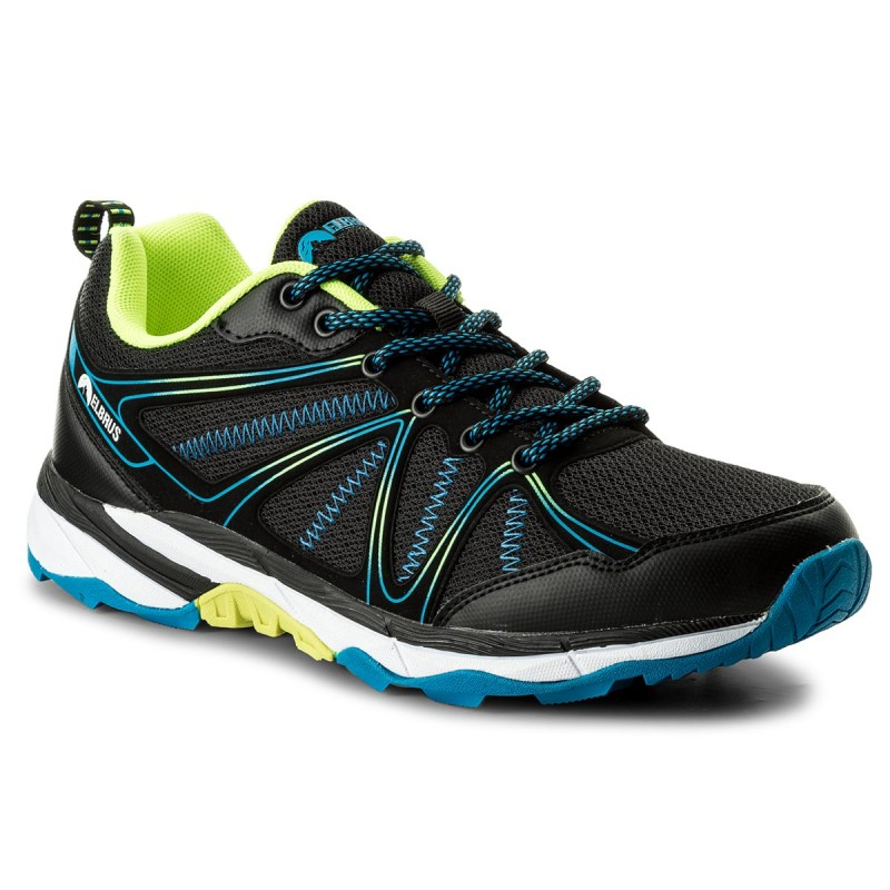 Trekkingschuhe ELBRUS-Pinelas Black/Lime/Lake Blue/White