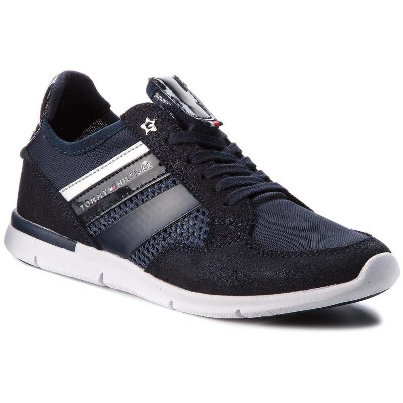 Sneakers TOMMY HILFIGER-Metallic Light Weight Sneaker FW0FW02996 Midnight 403