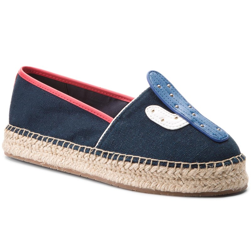 Espadrilles TOMMY HILFIGER-Patch Espadrille Corporate FW0FW03389 Midnight 403