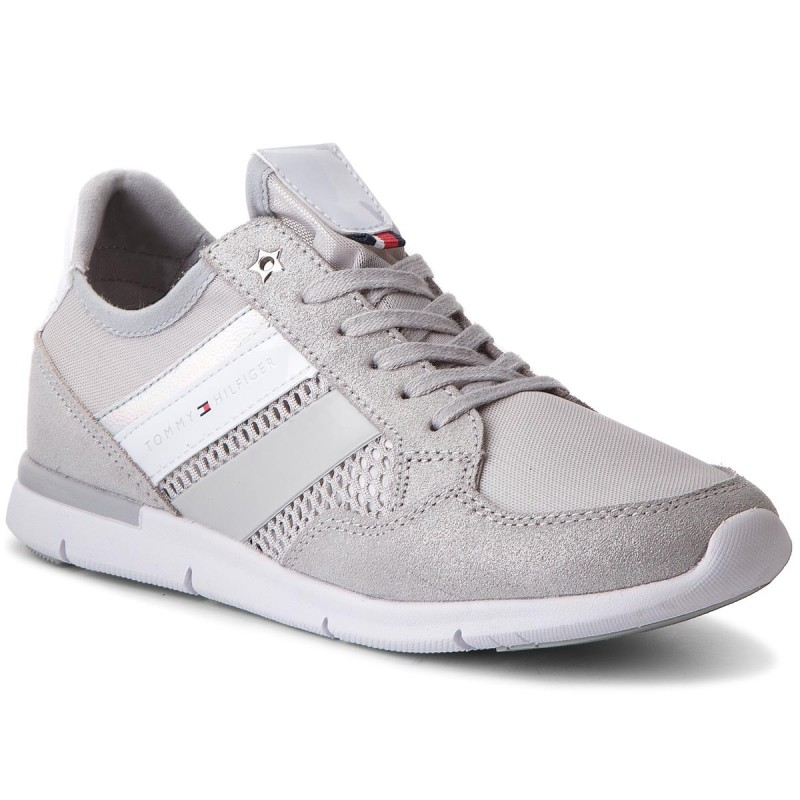 Sneakers TOMMY HILFIGER-Metallic Light Weight Sneaker FW0FW02996  Diamond Grey 001