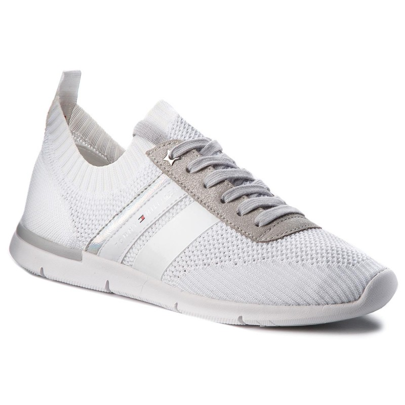 Sneakers TOMMY HILFIGER-Knited Light Weight Sneaker FW0FW03035 White 100