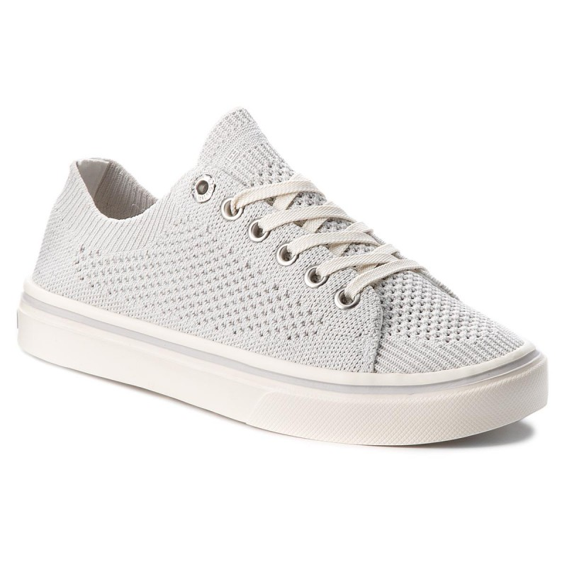 Turnschuhe TOMMY HILFIGER-Knitted Light Weight Lace Up FW0FW03362 White 100