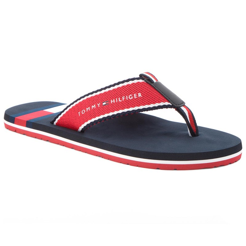 Zehentrenner TOMMY HILFIGER-Corporate Flag Beach Sandal FM0FM01605 Tango Red 611