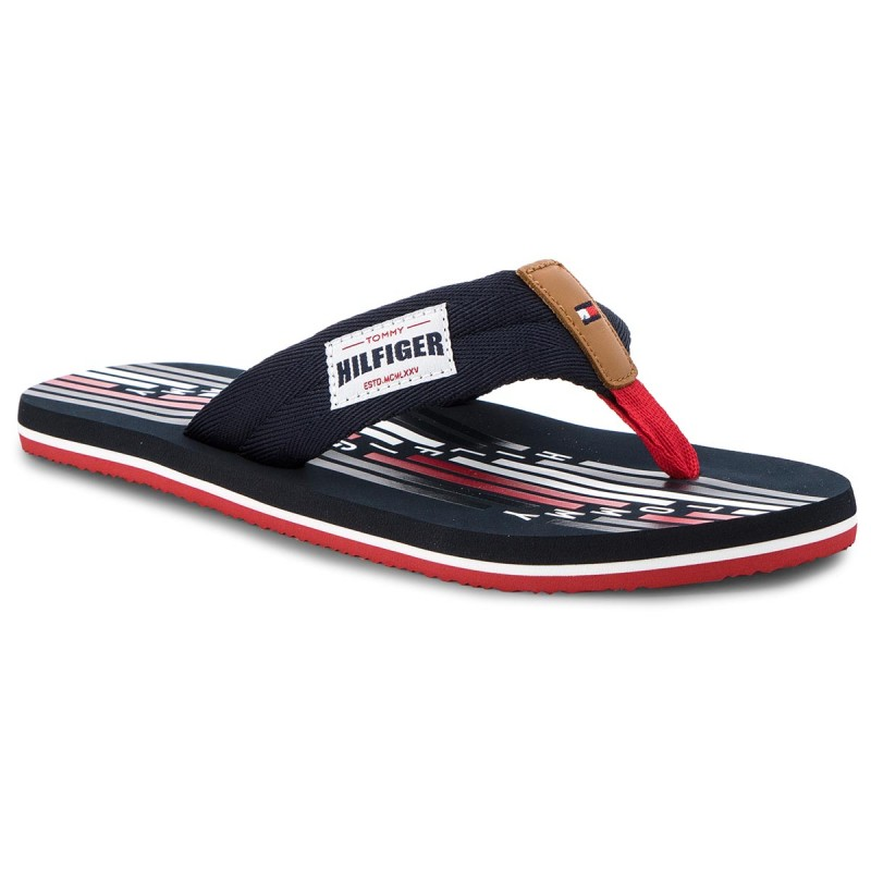 Zehentrenner TOMMY HILFIGER-Seasonal Tommy Beach Sandal FM0FM01609 Midnight 403