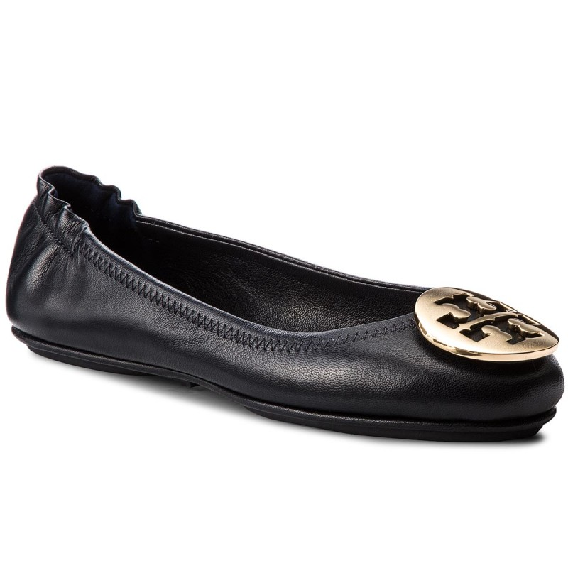 Ballerinas TORY BURCH-Minnie Travel Ballet With Metal Logo 50393 Perfect Navy/Gold 444