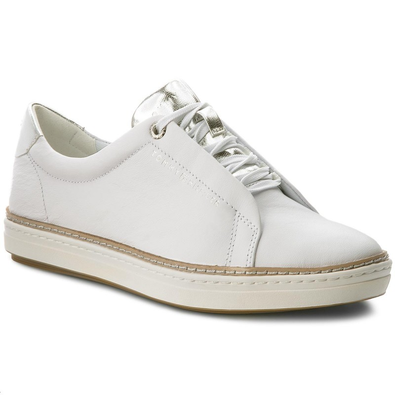 Sneakers TOMMY HILFIGER-Leather City Sneaker FW0FW02991 White 100