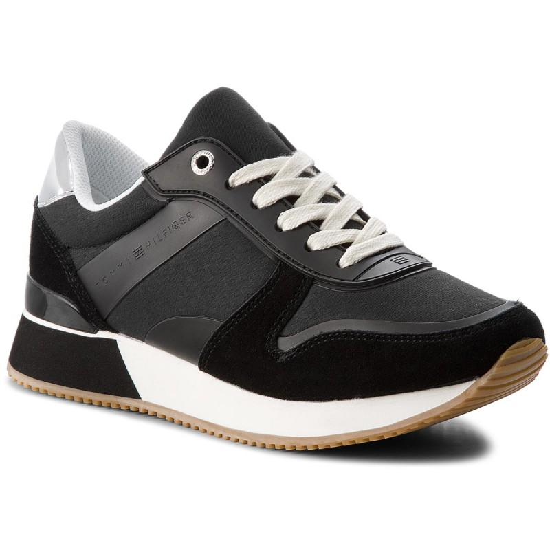 Sneakers TOMMY HILFIGER-Mixed Material Lifestyle Sneaker FW0FW03011 Black 990