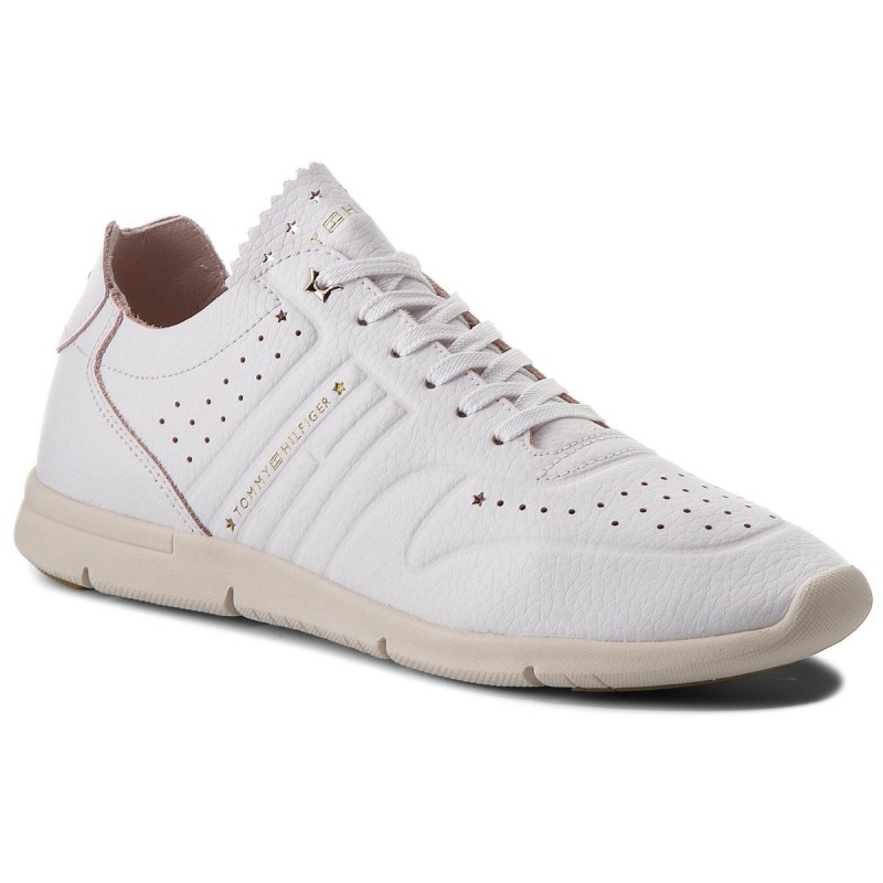 Sneakers TOMMY HILFIGER-Leather Light Weight Sneaker FW0FW03017 White 100