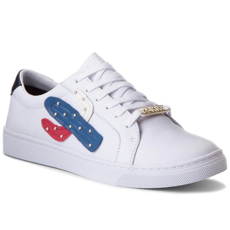 Sneakers TOMMY HILFIGER-Embelish Essential Sneaker FW0FW03388 White 100